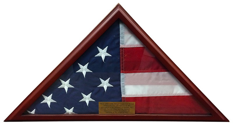 Photograph of the U.S. Flag donated by Chief Warrant Officer Michael Campbell